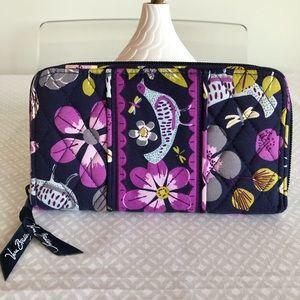 Vera Bradley Floral Nightingale Zip Around Wallet